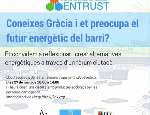 Forum ciutadà sobre energia al barri de Gràcia (BCN)